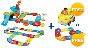 Buy Airport Playset + Deluxe Track Set and receive 1 FREE Vehicle or Junior Track Set