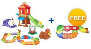 Buy Chicken Coop Playset + Deluxe Track set + Animal and receive 1 FREE Junior Track Set
