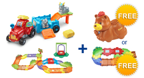 Buy Farm & Learn Animal Wagon + Deluxe Track Set and receive 1 FREE Animal or Junior Track Set