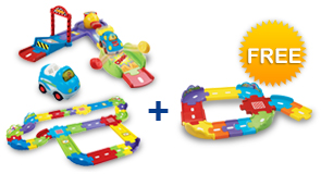 Buy Fast Track Launcher + Deluxe Track Set + Vehicle and receive 1 FREE Junior Track Set