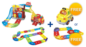 Buy Fire Command Rescue Center + Deluxe Track Set and receive 1 FREE Vehicle or Junior Track Set
