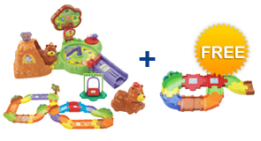 Buy Forest Adventure Playset + Deluxe Track set + Animal and receive 1 FREE Junior Track Set