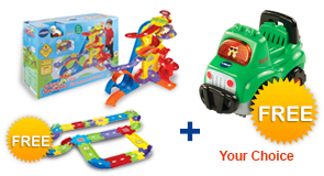 Buy Ultimate Amazement Park Playset and receive FREE Deluxe Track set and Vehicle