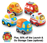 Buy 4, get 1 Free!<br> Plus, 50% off the Launch & Go Storage Case (optional)