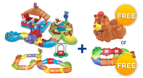 Buy Gallop & Go Stable + Deluxe Track Set and receive 1 FREE Animal or Junior Track Set