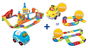 Buy Ultimate RC Speedway + Vehicle and receive 1 FREE Vehicle or Junior Track Set or Deluxe Track Set