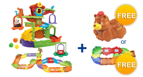 Buy Tree House Hideaway Playset + Deluxe Track Set and receive 1 FREE Animal or Junior Track Set