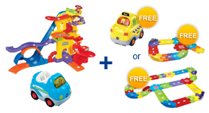 Buy Ultimate Amazement Park Playset + Vehicle and receive 1 FREE Vehicle or Junior Track Set or Deluxe Track Set