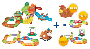 Buy Zoo Explorers Playset + Deluxe Track Set + Animal and receive 1 FREE Animal or Junior Track Set or Deluxe Track Set