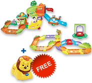 Buy Zoo Explorers Playset with Deluxe Track set and receive 1 FREE animal