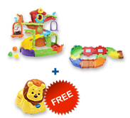 Buy Tree House Hideaway Playset and Receive 50% off Junior Track Set and Animal
