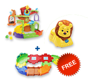 Buy Tree House Hideaway Playset + animal and receive free Junior Track Set