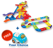 Buy Amazement Park Playset with Deluxe Track Set and Receive 1 FREE vehicle