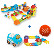 Buy Train Station Playset and Receive 40% off Junior Track Set and Vehicle