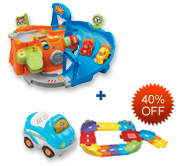Buy 2-in-1 Race Track Playset and Receive 40% off Junior Track Set and Vehicle