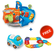 Buy 2-in-1 Race Track Playset with vehicle and receive FREE Junior Track Set