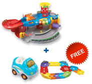 Buy Garage Playset with vehicle and receive FREE Junior Track Set
