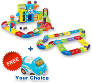 Buy Police Station Playset with Deluxe Track set and receive 1 FREE vehicle
