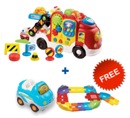 Buy Car Carrier with vehicle and receive FREE Junior Track Set