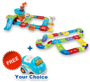 Buy Airport Playset with Deluxe Track set and receive 1 FREE vehicle