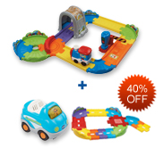 Buy Choo-Choo Train Playset and Receive 40% off Junior Track Set and Vehicle