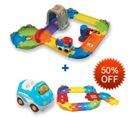 Buy Choo-Choo Train Playset and Receive 50% off Junior Track Set and Vehicle