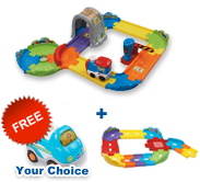 Buy Choo-Choo Train Playset with Junior Track Set and receive FREE vehicle