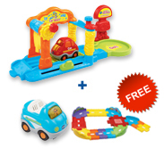 Buy Car Wash Playset with vehicle and receive FREE Junior Track Set
