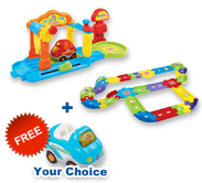 Buy Car Wash Playset with Deluxe Track set and receive 1 FREE vehicle