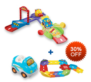 Buy Fast Track Launcher and Receive 30% off Junior Track Set and Vehicle