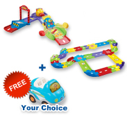 Buy Fast Track Launcher with Deluxe Track set and receive 1 FREE vehicle