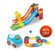 Buy 3-in-1 Launch & Play Raceway and Receive 40% off Junior Track Set and Vehicle