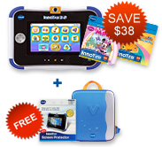 Buy InnoTab 3S Plus with 2 Learning Software and receive a FREE Storage Tote and Screen Protector