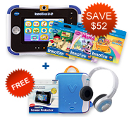 Buy InnoTab 3S Plus with 3 Learning Software and receive a FREE Storage Tote, Screen Protector and VTech Headphones