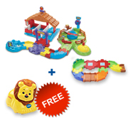 Buy Gallop & Go Stable with Junior Track Set and receive 1 FREE animal