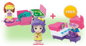 Buy a Flipsies Carina's Mini Golf & Check-Up Table and Flipsies Doll, receive FREE Flipsies Playset of your choice