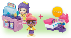 Buy a Flipsies Clementine's Kitchen & Ice Cream Cart and a Flipsies Doll, receive FREE Flipsies Playset of your choice