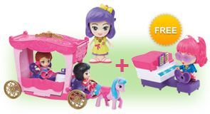 Buy a Flipsies Grace's Garden & Carriage and a Flipsies Doll, receive FREE Flipsies Playset of your choice