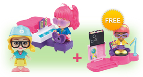 Buy a Flipsies Jazz's Vanity & Piano and a Flipsies Doll and receive FREE Flipsies Playset of your choice
