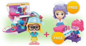 Buy a Flipsies Sandy's House & Ocean Cruiser and a Flipsies Doll, receive FREE Flipsies Playset and Doll of your choice