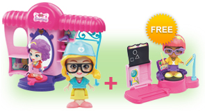 Buy a Flipsies Styla's Salon & Fashion Boutique and a Flipsies Doll, receive FREE Flipsies Playset of your choice