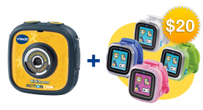 Buy a Kidizoom Action Cam, get an additional Kidizoom Smartwatch for $20