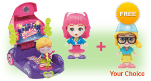 Buy a Flipsies<sup>™</sup> Jazz's Convertible & Stage and a Flipsies<sup>™</sup> Doll, receive 1 extra FREE Flipsies<sup>™</sup> Doll of your choice