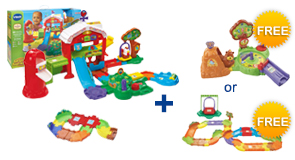Buy the Grow & Learn Farm and a Junior Track Set, receive 1 FREE Playset or Animal of your choice!