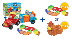 Buy the Farm & Learn Animal Wagon and Junior Track Set, receive 1 FREE Gift of your choice!