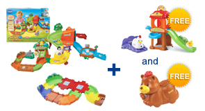 Buy the Zoo Explorers Playset and a Junior Track Set, receive FREE Playset and Animal of your choice!
