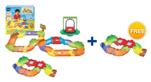 Buy the Deluxe Track Set and a Junior Track Set, receive a FREE Extra Junior Track Set