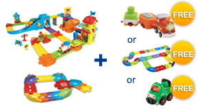Buy the Train Station Playset and Junior Trackset, receive $4 off and a FREE Gift of your choice!