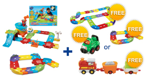 Buy the Airport Playset and Junior Track Set, receive a FREE Gift of your choice!