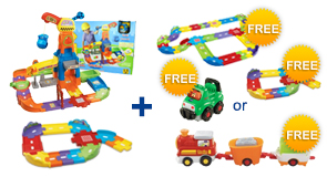 Buy the Construction Playset and Junior Track Set, receive a FREE Gift of your choice!